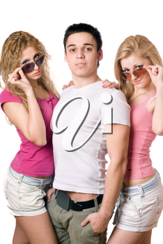 Royalty Free Photo of Three Young People