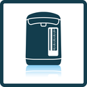 Kitchen electric kettle icon. Shadow reflection design. Vector illustration.