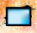 Royalty Free Clipart Image of an Abstract Framed Background