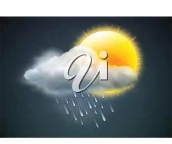 Royalty Free Clipart Image of a Weather Background