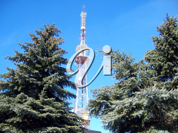 Royalty Free Photo of a Telecommunications Tower