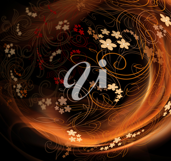 Design Background With Floral Beauty Ornate