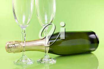 Royalty Free Photo of a Bottle of Champagne