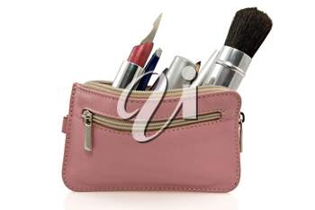 Royalty Free Photo of a Pink Cosmetic Bag