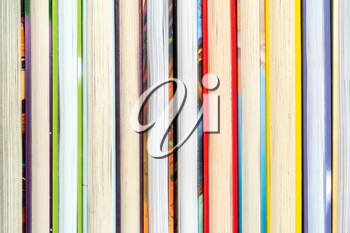 Close-up of books arranged in a row