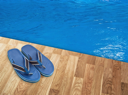 Slippers near the pool