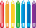 Royalty Free Clipart Image of a Set of Crayons