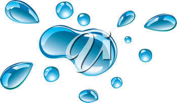 Royalty Free Clipart Image of Drops of Water