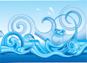 Royalty Free Clipart Image of a Wave Background