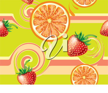 Royalty Free Clipart Image of a Fruity Background