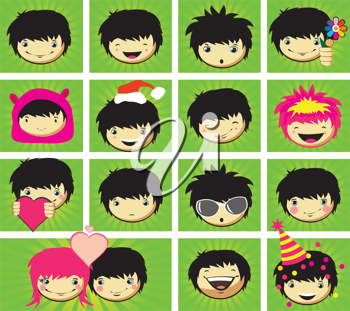 Royalty Free Clipart Image of Boys