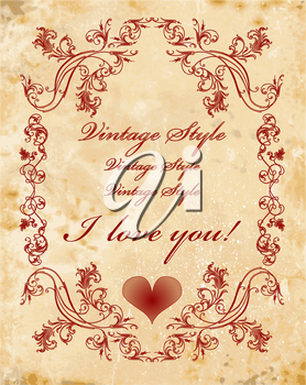 vinage valentines day card