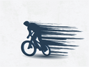 Royalty Free Clipart Image of a Person Riding a Bike