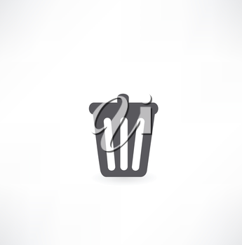 bin with documents icon