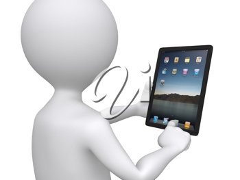 Royalty Free Photo of a Man With a Tablet