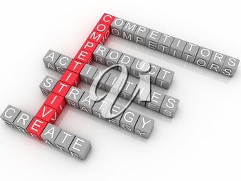 Royalty Free Clipart Image of a Scrabble Business Design
