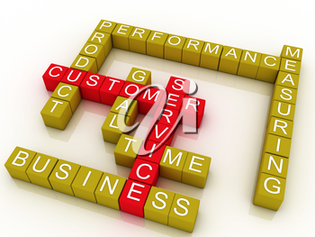Royalty Free Clipart Image of a Scrabble Design for Customer Service