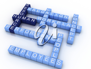 Royalty Free Clipart Image of a Design for Human Resources