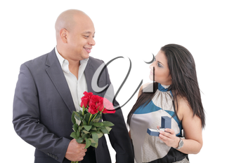 man proposing to a woman