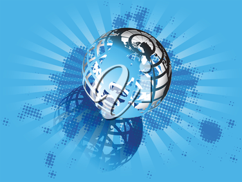 Royalty Free Clipart Image of a Transparent Globe