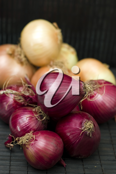 Royalty Free Photo of Piles of Onions
