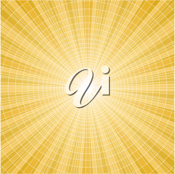 Abstract sun yellow radial rays tile vector background