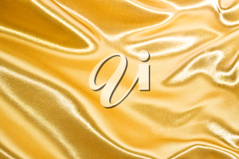Royalty Free Photo of a Golden Silk Background