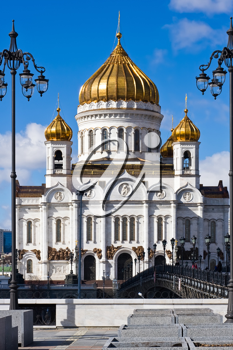 Royalty Free Photo of Cathedral of Christ the Saviour in Moscow