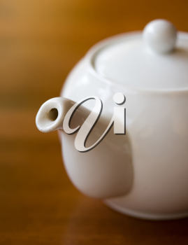 Royalty Free Photo of a White Teapot