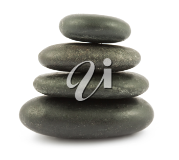 Royalty Free Photo of a Stack of Zen Stones