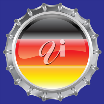 Royalty Free Clipart Image of a Flag of Germany Bottle Cap