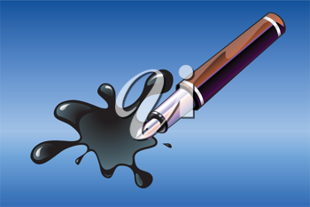 Royalty Free Clipart Image of an Ink Pen