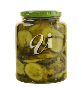 Jar Of Pickles Isolated On White Background