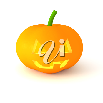 Royalty Free Clipart Image of a Carved Pumpkin