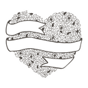 Doodle hand drawn love valentine abstract card template. Vector illustration