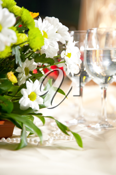 Table decor with flowers