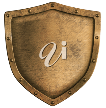 Royalty Free Photo of a Metal Shield