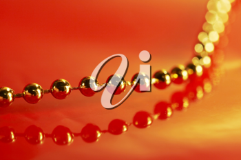 Royalty Free Photo of Golden Beads