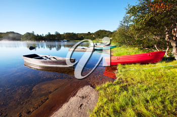 Royalty Free Photo of Boats on a Lake