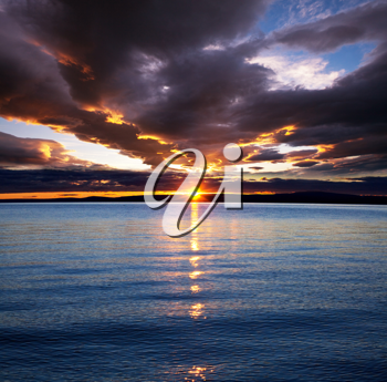 Royalty Free Photo of a Sunset at a Beach
