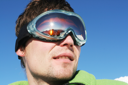 Royalty Free Photo of a Man Wearing Goggles