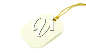Royalty Free Photo of a Blank Tag
