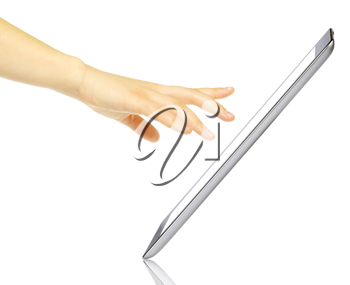 Royalty Free Photo of a Person Using a Tablet