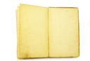 old book on the white background with clipping path