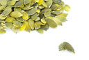fresh pumpkin seeds isolated on a white
