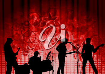 Royalty Free Clipart Image of a Band