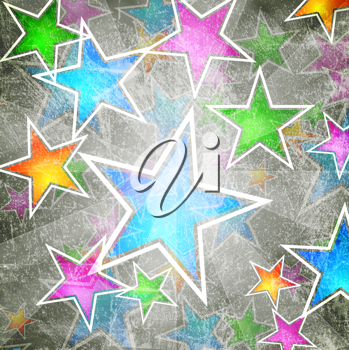 Royalty Free Clipart Image of a Starry Background