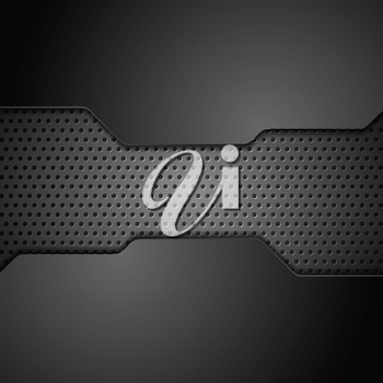Metal perforated texture technology background. Vector corporate tech graphic design