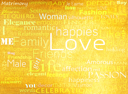 Seamless pattern made from words which relate with word love