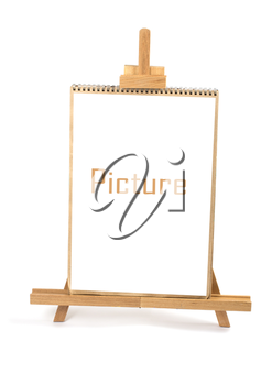 Artist easel and framei isolated on a white background